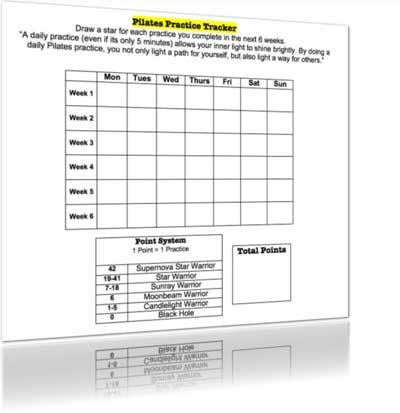 Pilates Practice Tracker