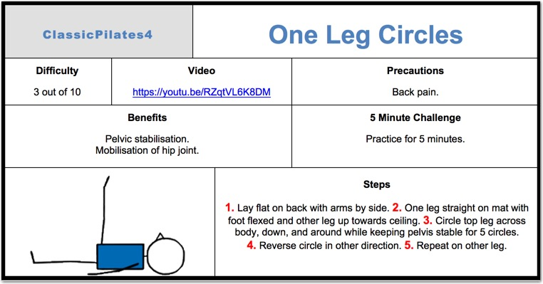 One Leg Circles Pilates