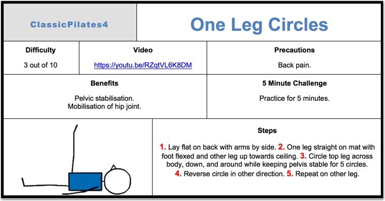 One Leg Circles Pilates