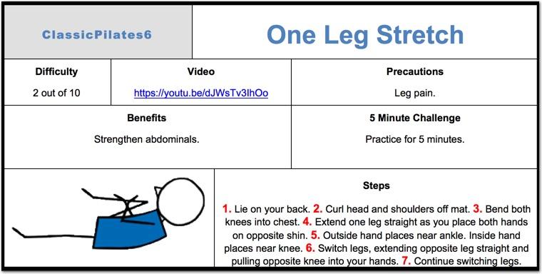 One Leg Stretch Pilates