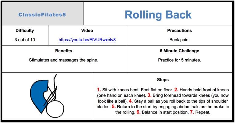 Rolling Back Pilates